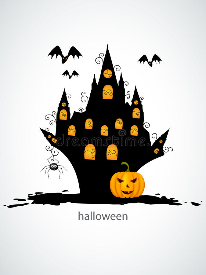 Download Halloween castel stock vector. Image of horror, backdrop - 21711724