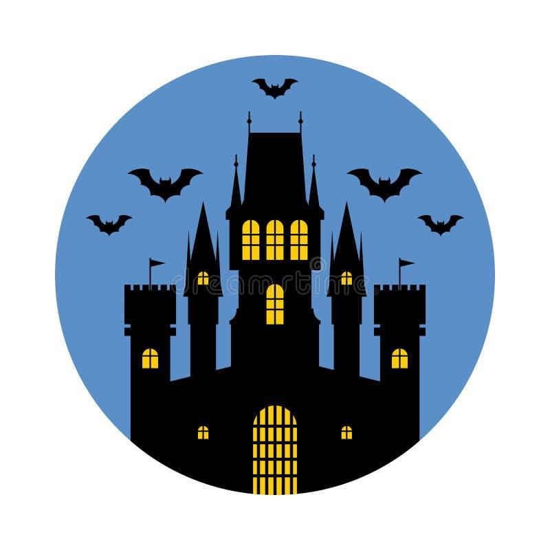 Halloween, castello Illustrazione di vettore illustrazione vettoriale