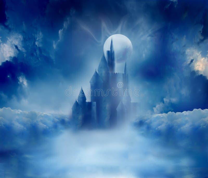 Halloween castle stock image