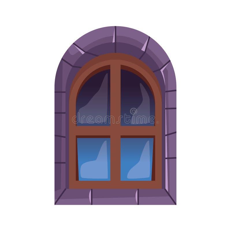 Free Halloween Castle Window Isolated Icon Stock Photography - 159370822