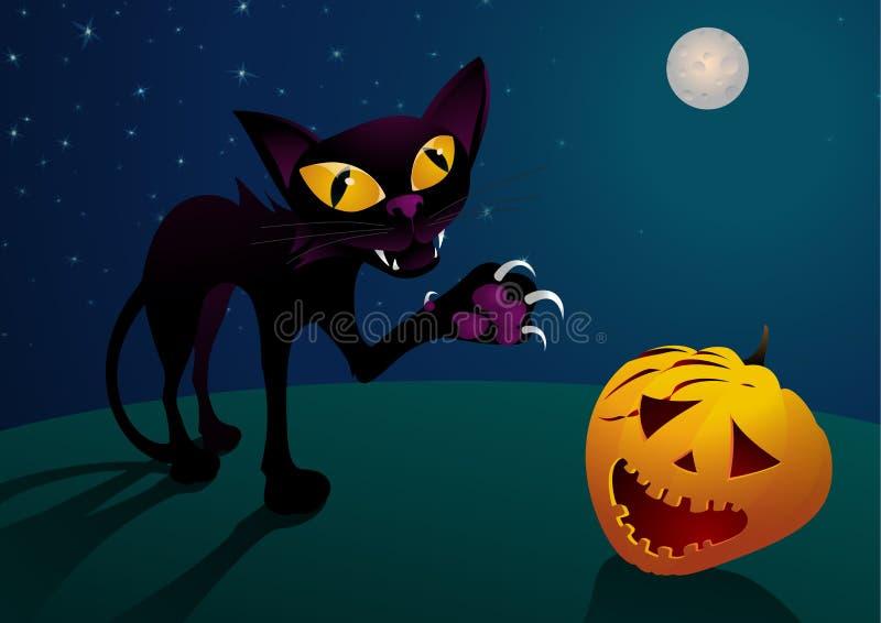 Download Halloween cat stock vector. Illustration of dark, drawing - 10578928