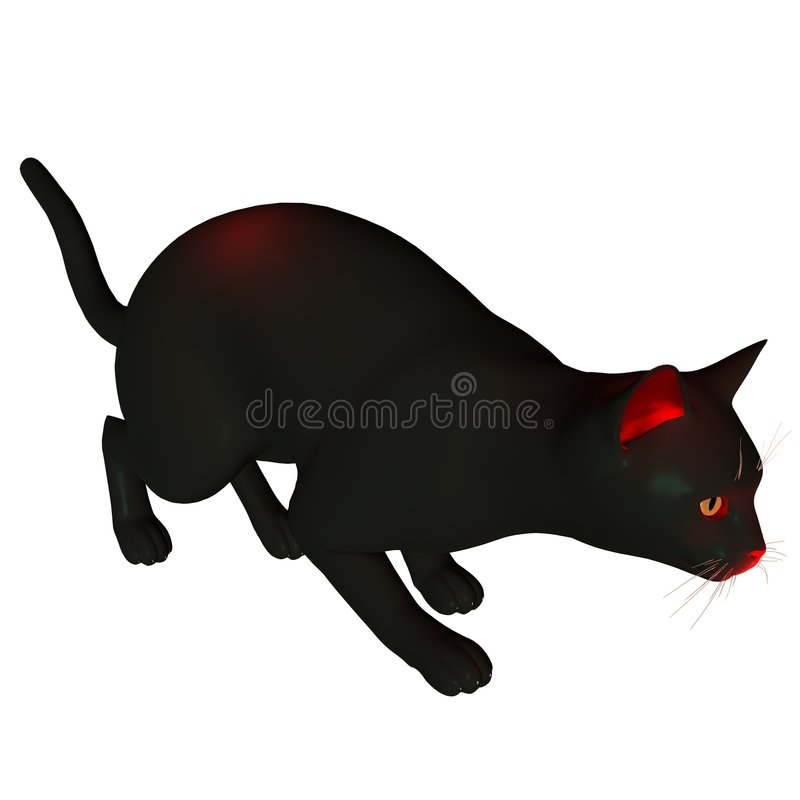 Download Halloween Cat - 2 Royalty Free Stock Photography - Image: 3464837