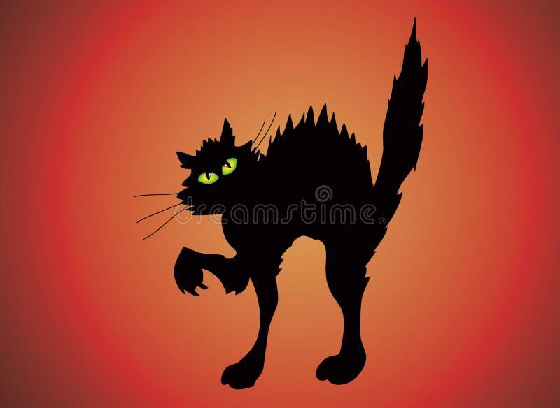 Download Halloween cat stock illustration. Illustration of enchanting - 2935442