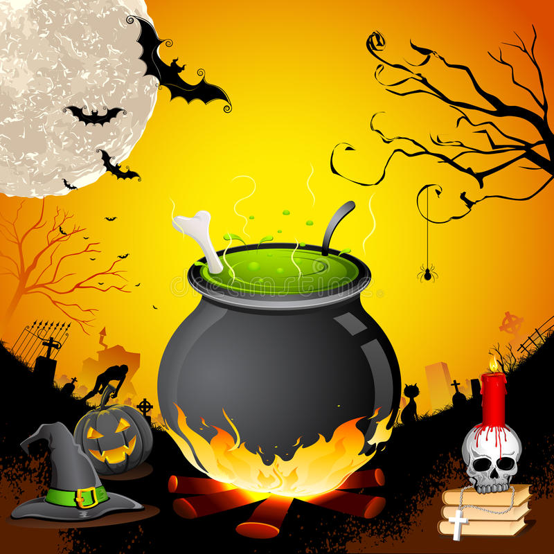 Halloween Cauldron stock vector. Illustration of holiday - 26853312