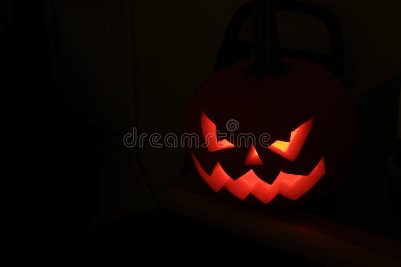 Halloween. The celebration of Halloween pumpkin with candle symbol royalty free stock photos