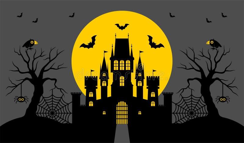 Halloween, château Illustration de vecteur photographie stock libre de droits