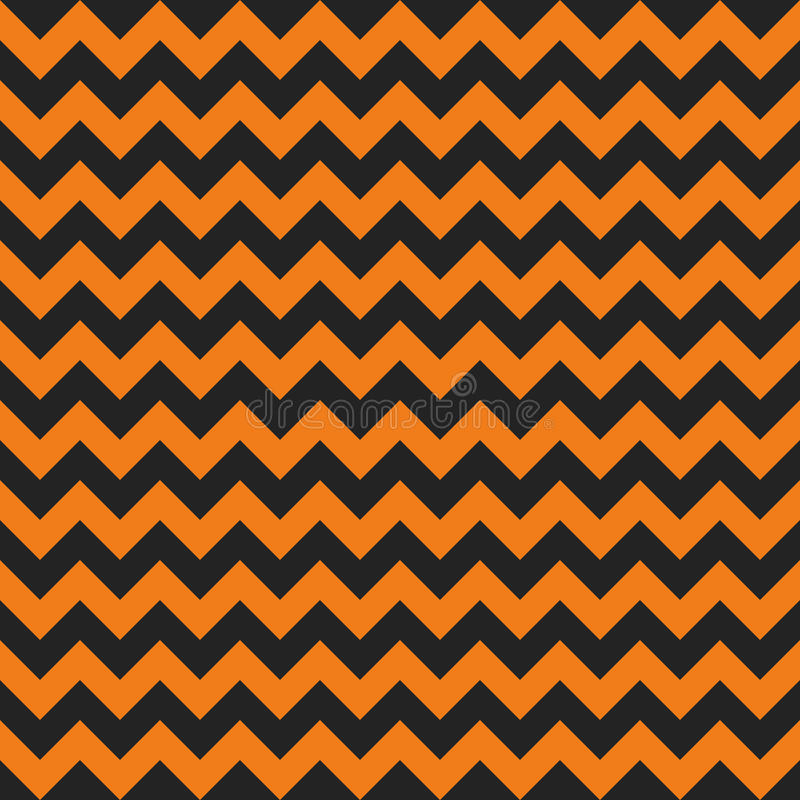 Halloween chevron seamless pattern royalty free illustration