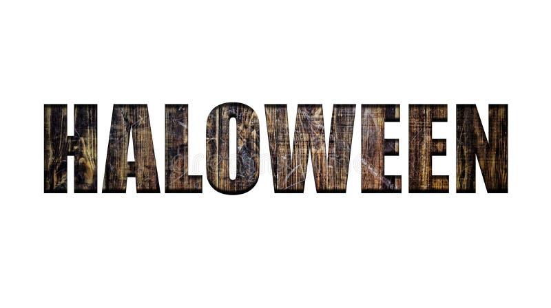 Halloween, chrzcielnica, reklama, zaproszenie, karnawał, przyjęcie, świętowanie, wakacje, przezroczystość, drewniane deski, pusty ilustracja wektor