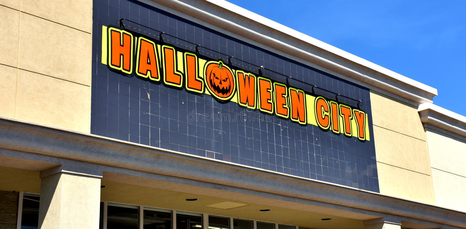 Halloween City Store, Manassas, Virginia, USA. Halloween City Store is American Halloween Costumes Superstore, Manassas, Virginia, USA royalty free stock photo