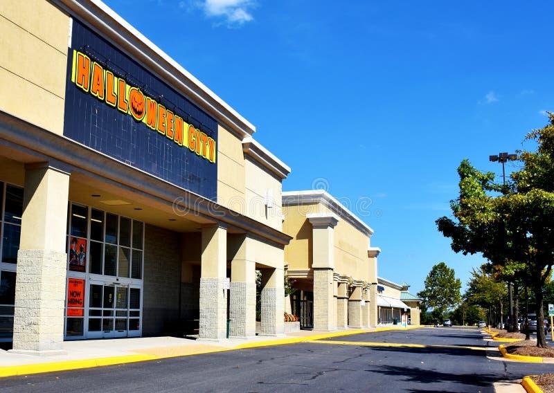 Halloween City Store, Manassas, Virginia, Verenigde Staten stock afbeeldingen