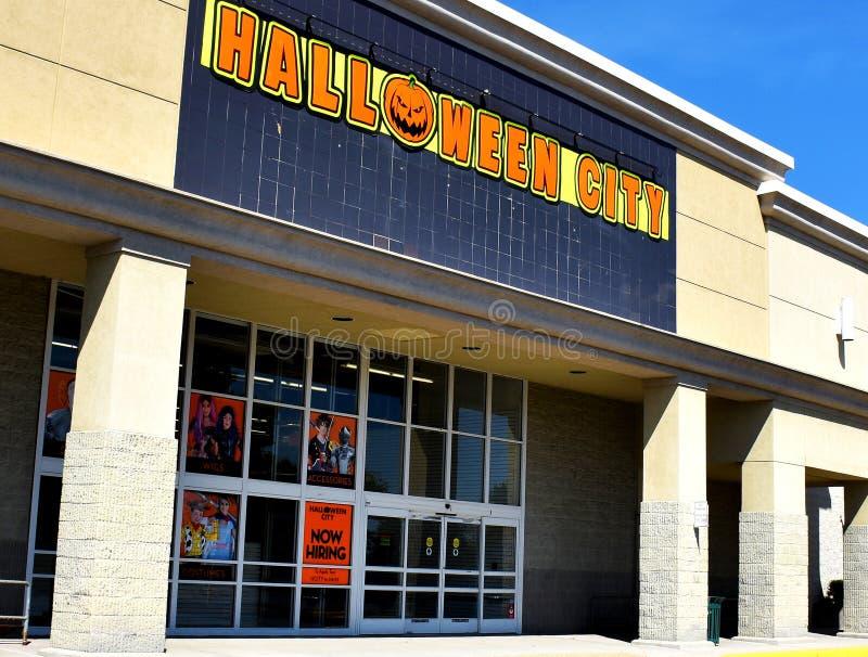 Halloween City Store, Manassas, Virginia, Verenigde Staten stock afbeelding