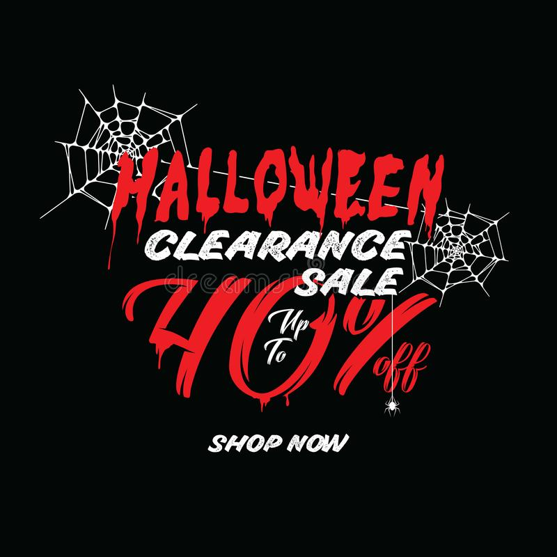 Halloween Clearance Sale Vol.1 40 percent heading design for ban. Ner or poster. Sale and Discounts Concept royalty free illustration