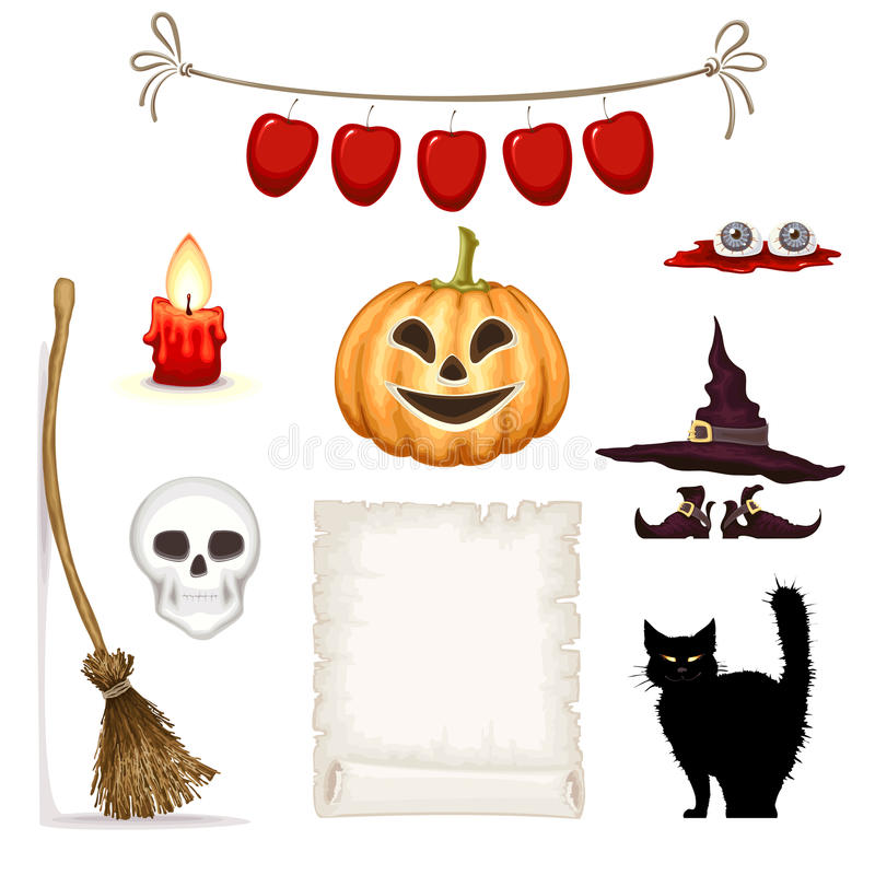 Halloween clipart royalty-vrije illustratie
