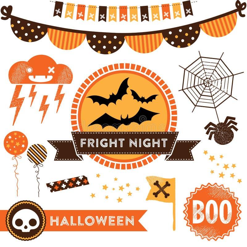 Halloween clipart stock illustratie