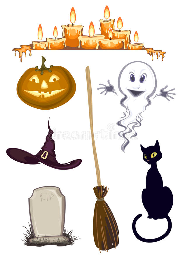 Halloween cliparts stock illustratie