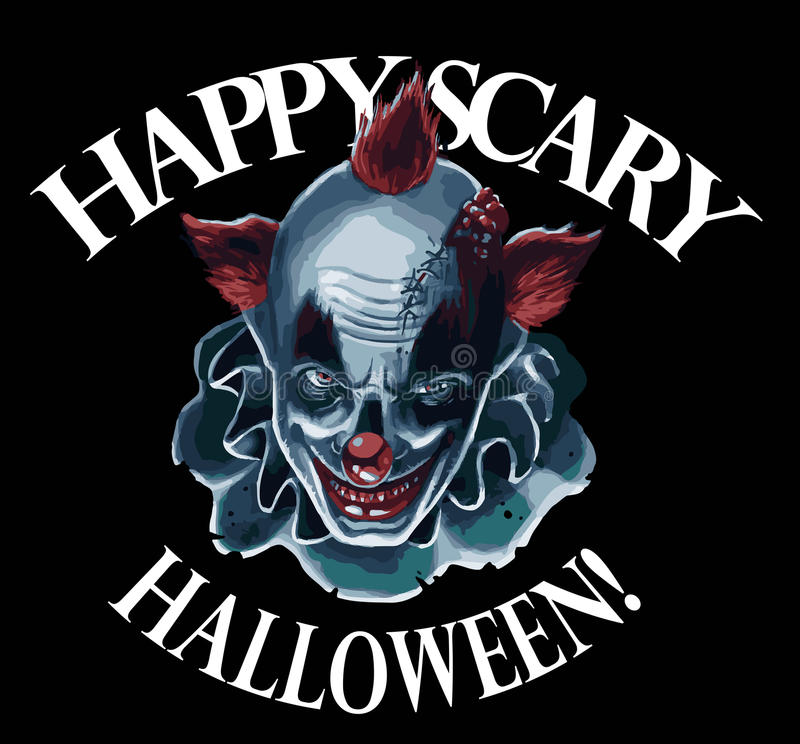 Halloween clown royalty free illustration