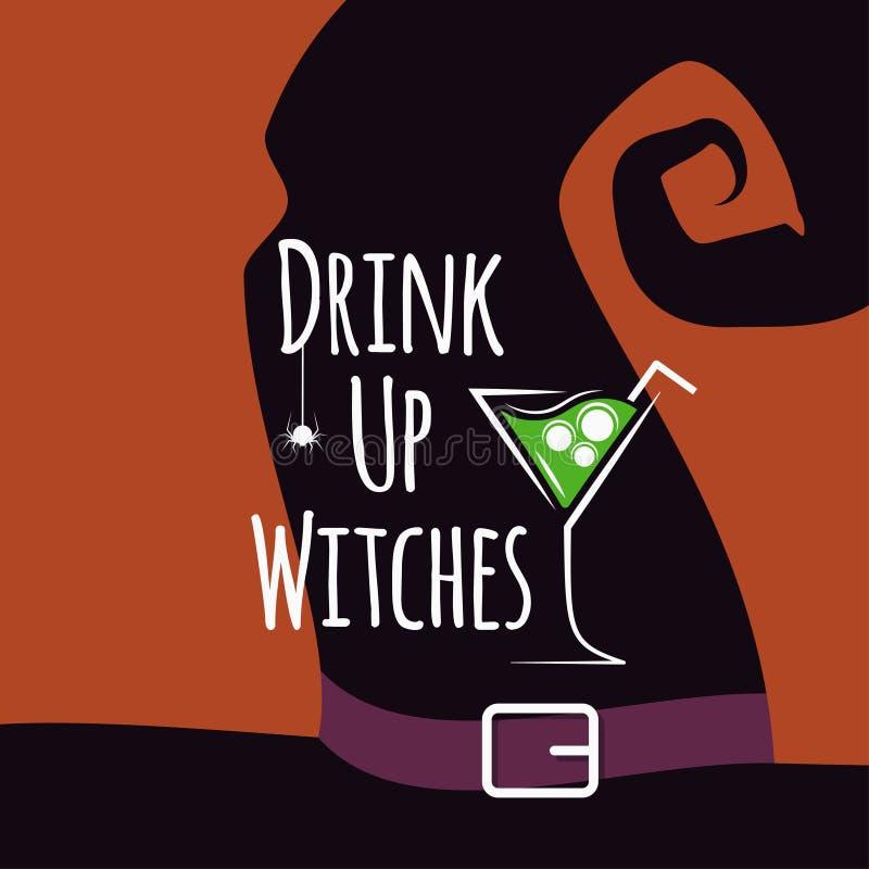 Halloween cocktail party design background vector illustration