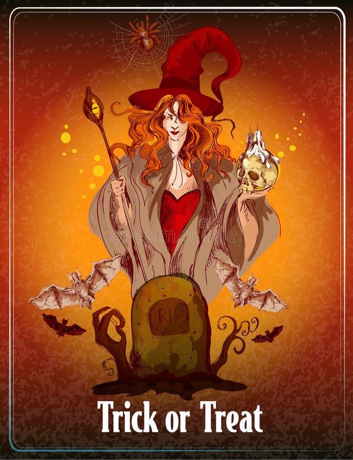 Halloween coloreó el fondo stock de ilustración