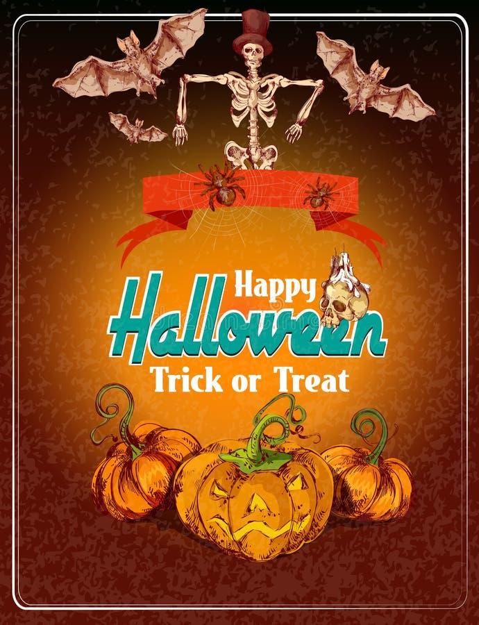 Halloween coloreó el fondo libre illustration