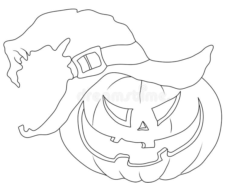 halloween coloring page pumpkin in the