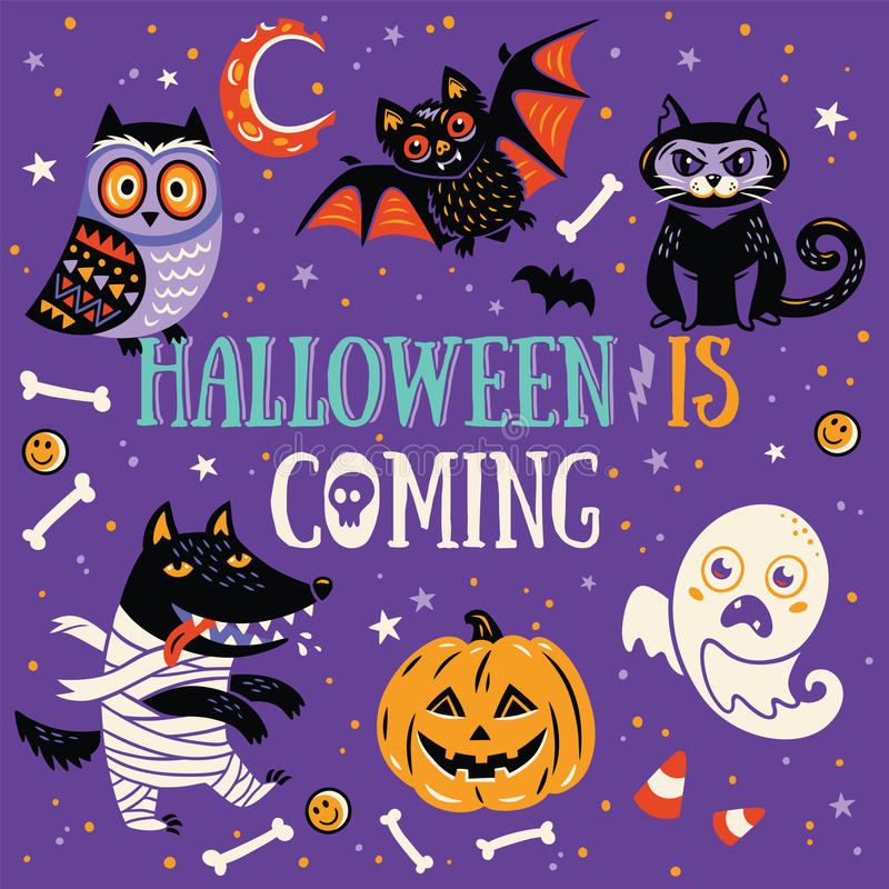 Halloween Is Coming. Vector Illustration Stock Vector - Image ...