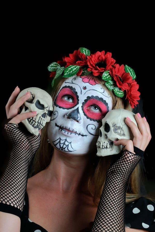Halloween compone la maschera messicana fotografia stock