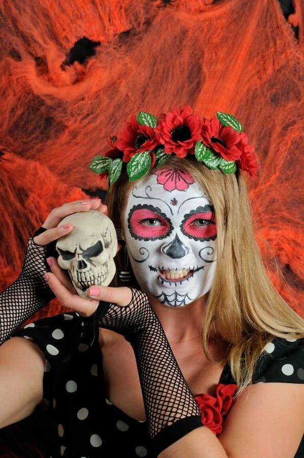 Halloween compone la maschera messicana immagine stock libera da diritti
