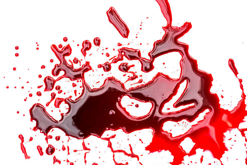 Halloween concept : Blood dripping. On background stock illustration