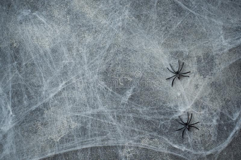 Halloween concept, a dark background old wall with cobwebs, greeting card background royalty free stock photos