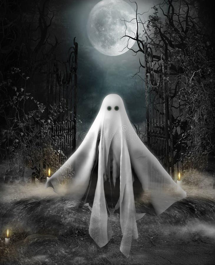 Halloween-Conceptenspook vector illustratie