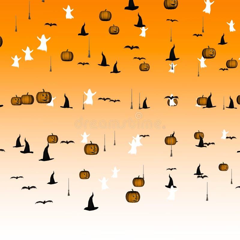 Halloween-Confettis vektor abbildung