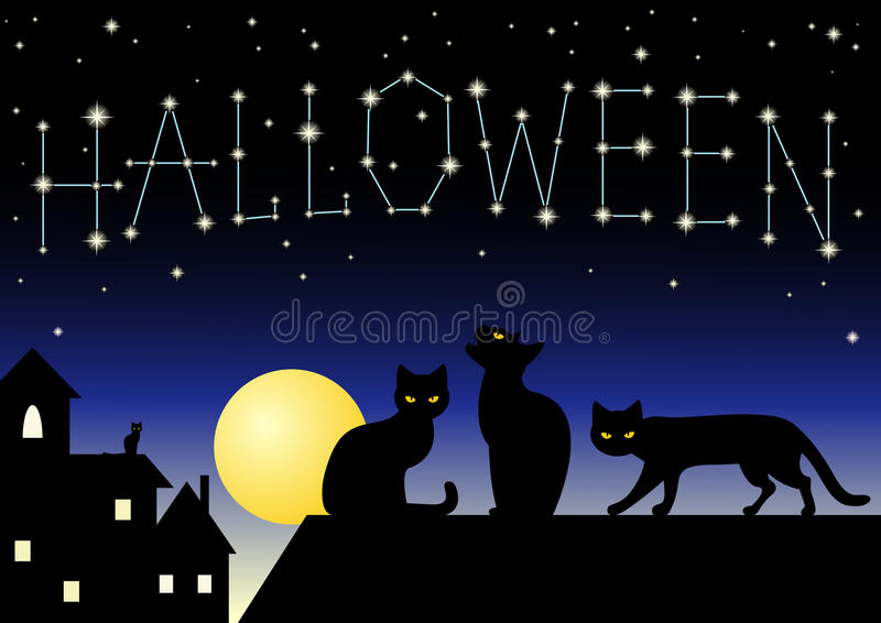 Download Halloween Constellation stock vector. Illustration of banner - 21474490