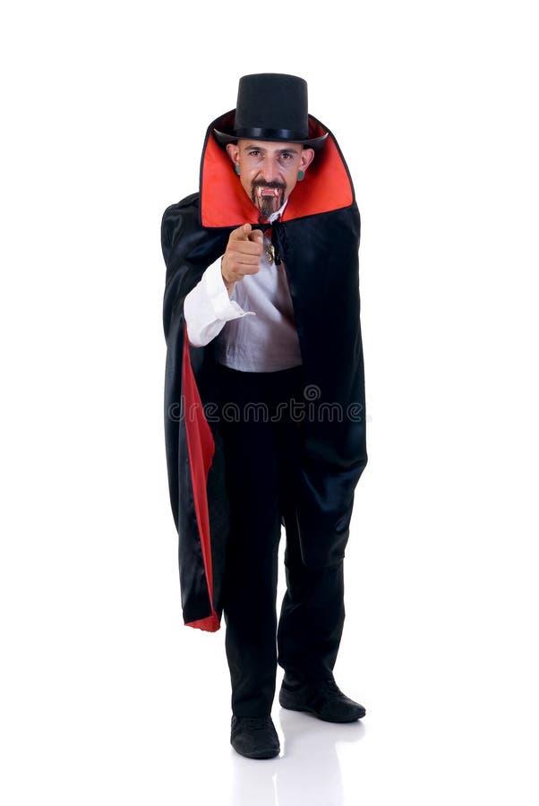 Halloween, contagem Dracula fotos de stock