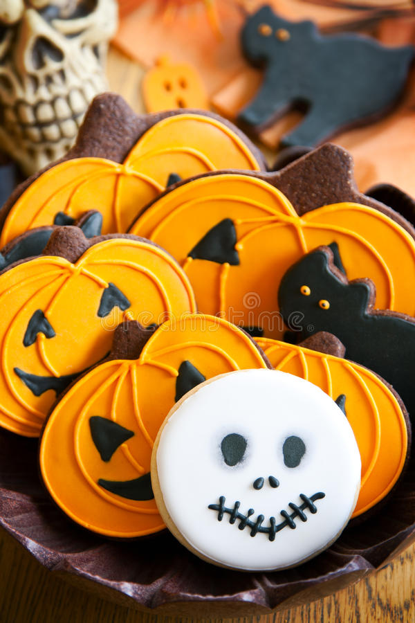 Free Halloween Cookies Stock Photography - 25966282