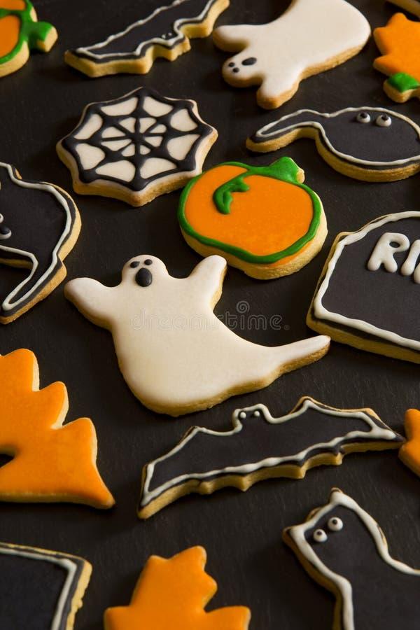 Halloween cookies royalty free stock photography