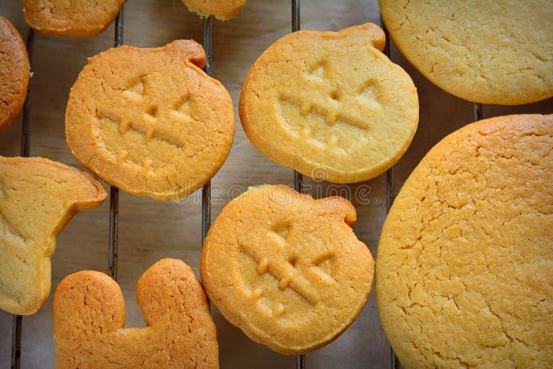 Halloween cookies. stock image
