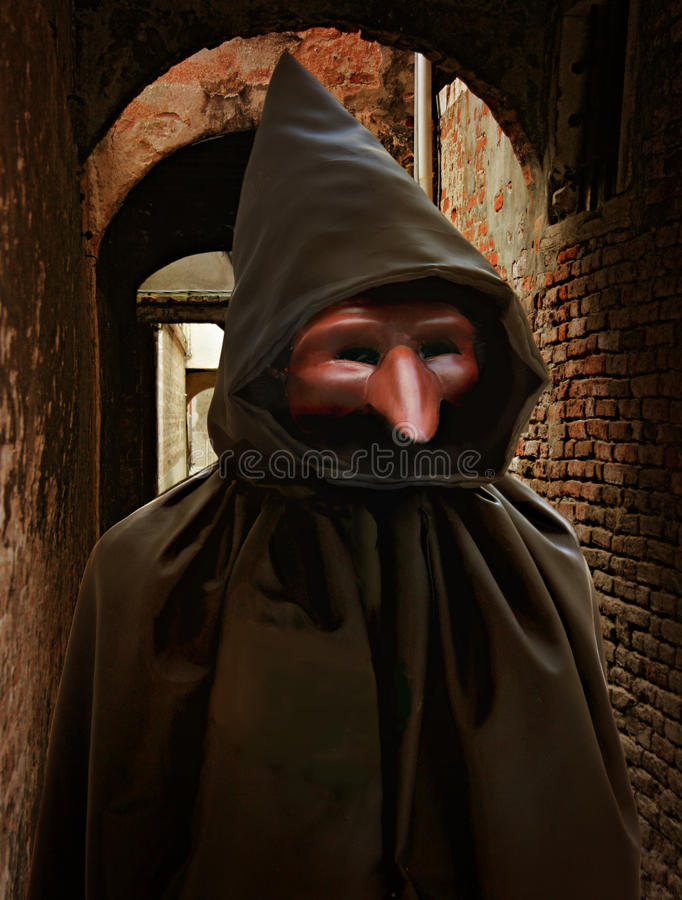 Download Pulcinella Halloween Costume Stock Image - Image: 21449659