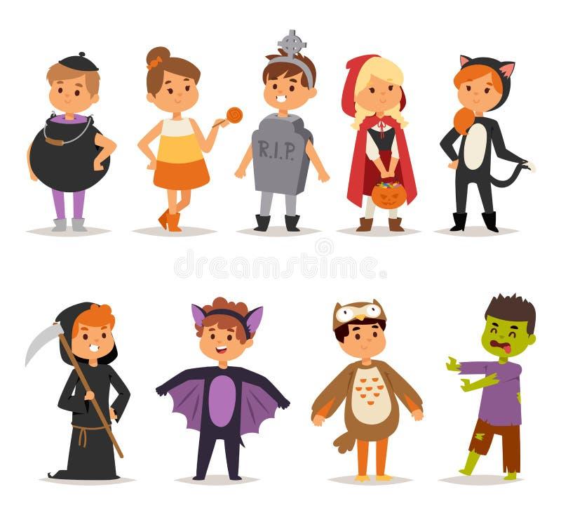 Free Halloween Costume Kids Vector. Stock Photos - 79071483