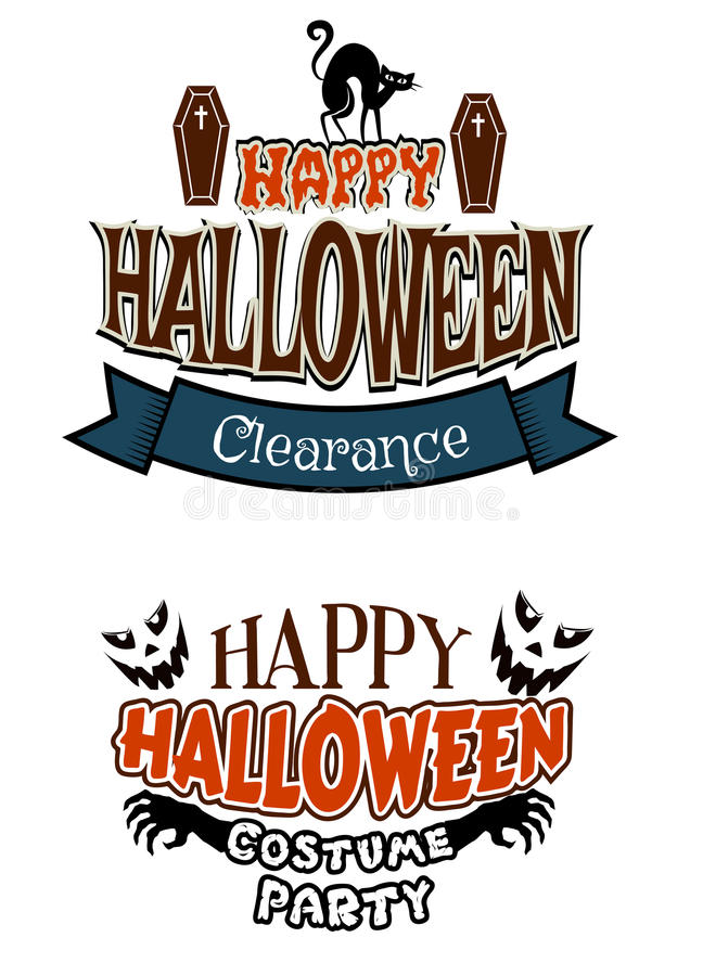 Free Halloween Costume Party Banners Royalty Free Stock Photos - 44295528