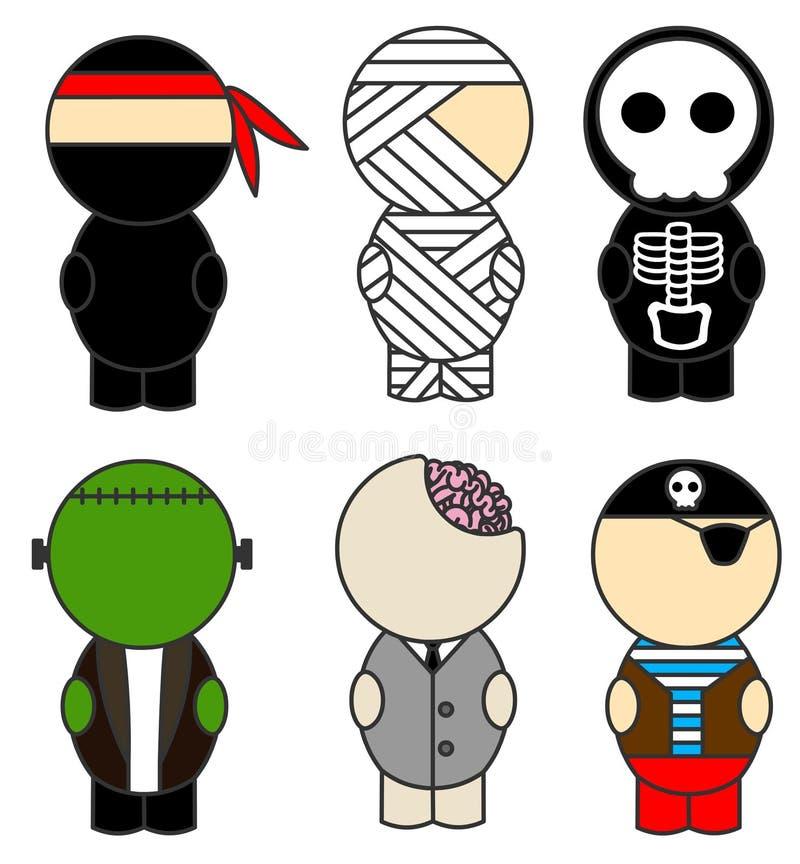 Download Halloween costumes stock illustration. Image of bones - 20973190