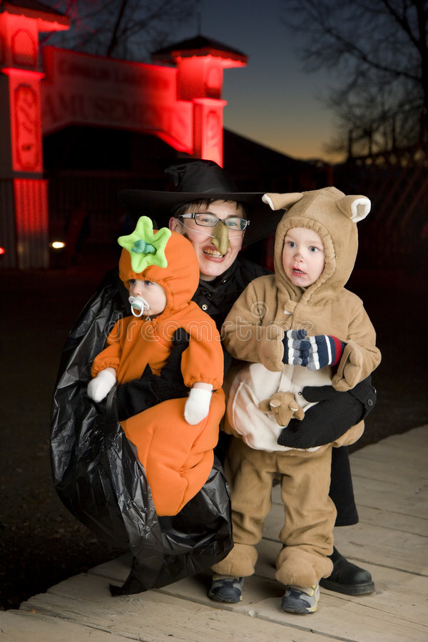 Halloween costumes stock photography