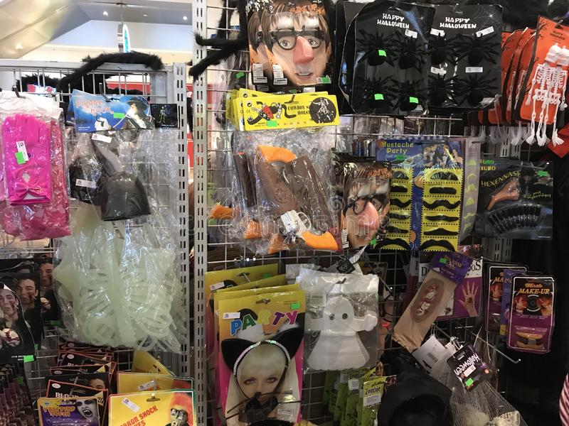Halloween costumes accessories stock image
