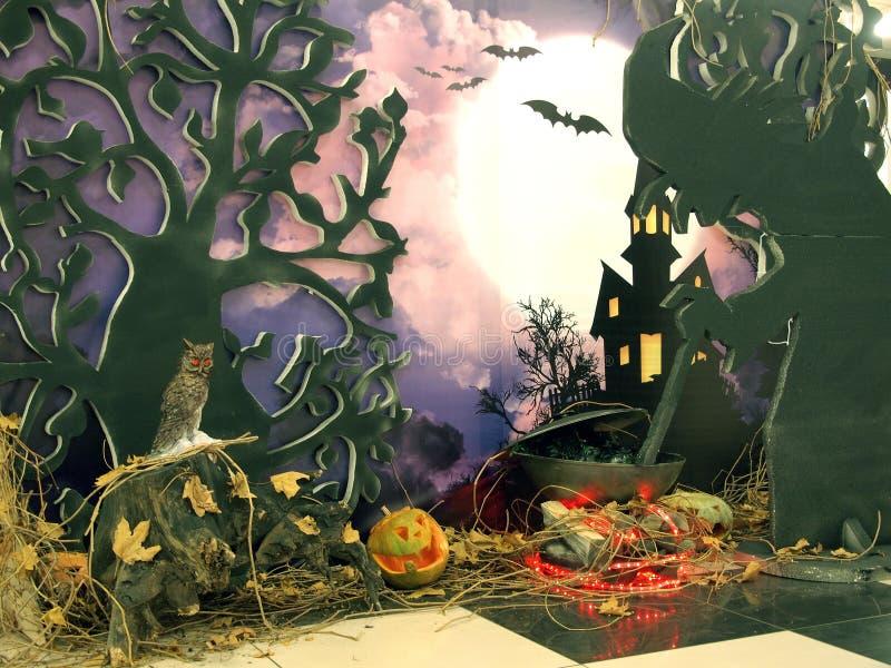 Halloween Cozimento da poção imagem de stock