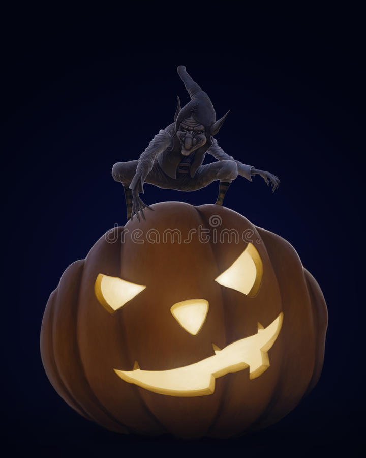 Download Halloween creepy night stock illustration. Image of creature - 33968523