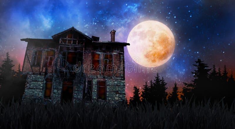 Halloween creepy old house stock photography