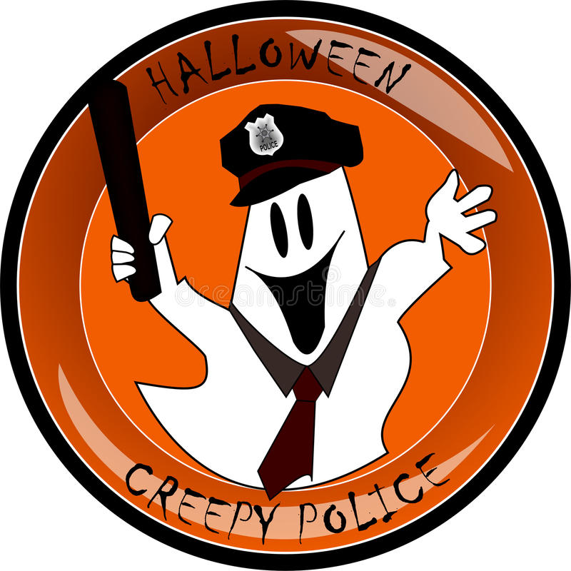 Download Halloween Creepy Police Ghost Stock Illustration - Image: 21442815