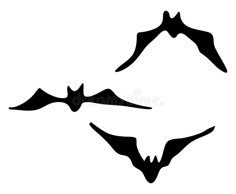 halloween creepy scary bat silhouette vector symbol icon design rh dreamstime com Real Scary Bats Scary Bat Clip Art
