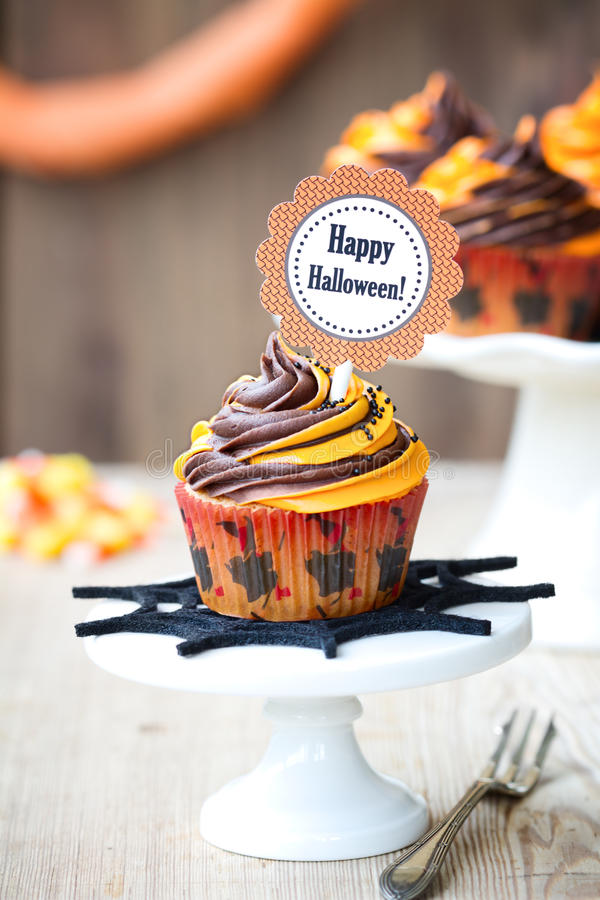Halloween cupcake royalty free stock image