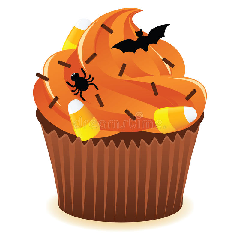Halloween cupcakePrint stock abbildung