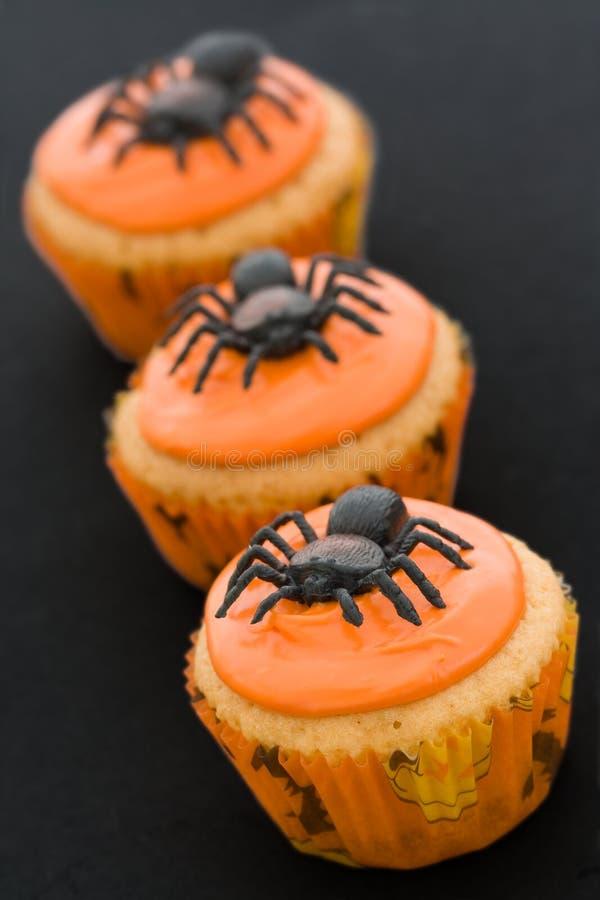 Halloween cupcakes royalty-vrije stock afbeeldingen